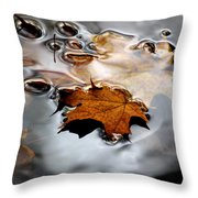Under Water Fall Throw Pillow