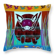 Under Water Life Animals Fish Snails Graphic Art Created By Navinjoshi At Fineartamerica.com Ideal F Throw Pillow