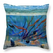 Under Water - Point Of View Throw Pillow