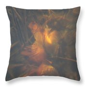 Under Waterlily Throw Pillow