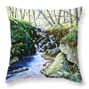 Under Wood 02 Throw Pillow