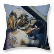 Underage Driver Throw Pillow