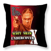 Undercover X Throw Pillow
