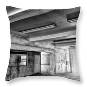 Underground Bw Throw Pillow