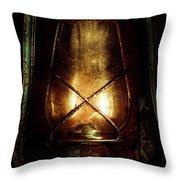 Underground Mining Lamp  Throw Pillow