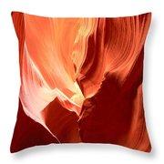 Underground Pastel Flames Throw Pillow