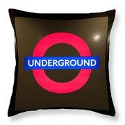 Underground Sign Throw Pillow