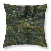 Undergrowth Saint Remy De Provence  July 1889 Vincent Van Gogh 1853  1890 Throw Pillow