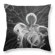 Underneath The Moon Jellyfish Throw Pillow