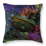 Undersea Clam Throw Pillow