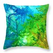 Undersea Corals Throw Pillow