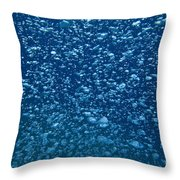 Underwater Bubbles Throw Pillow