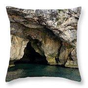 Underwater Cave Throw Pillow