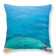 Underwater Crater In Galapagos Throw Pillow