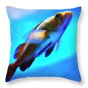 Underwater Levity Throw Pillow
