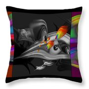 Underwater Monochrome Throw Pillow