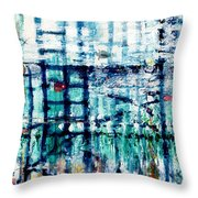 Underwater Oil Painting  Throw Pillow