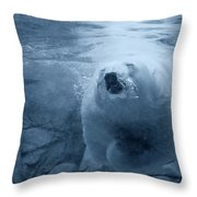 Underwater Playground Throw Pillow