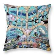 Underwater  Sanctuary Throw Pillow