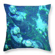 Underwater Statues Throw Pillow