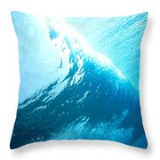 Underwater Wave Throw Pillow