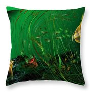 Underwater Wonderland  Diving The Reef Series. Throw Pillow