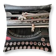 Underwood Typewriter Throw Pillow