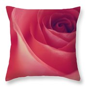Une Rose D'amour Throw Pillow