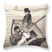 Une R?volte A Bord Throw Pillow