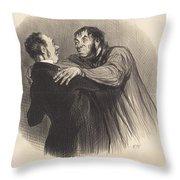Une Visite Du 1er Janvier Throw Pillow