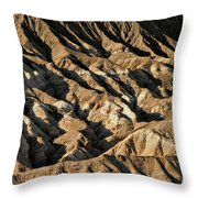 Unearthly World - Death Valley's Badlands Throw Pillow
