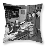 Unemployment Census, 1937 Throw Pillow