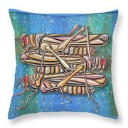 Unending A Malachite Gothic Of Non-conventional Copulating Locusts Throw Pillow