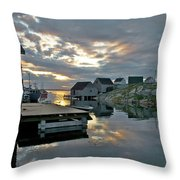 Unesco World Heritage Site - Peggy's Cove - Nova Scotia Throw Pillow