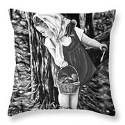 Unexpected Find Black And White Throw Pillow
