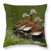 Unexpected Visitors Throw Pillow