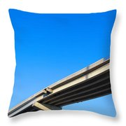 Unfinished Freeway Ramp Throw Pillow