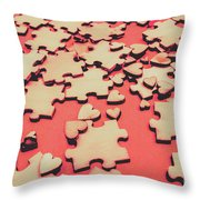 Unfinished Hearts Throw Pillow