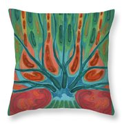 Unfinished Tree Throw Pillow