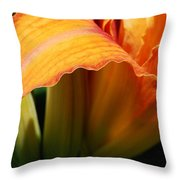 Unfolding To Orange Throw Pillow