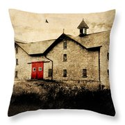 Uni Barn Throw Pillow by Julie Hamilton