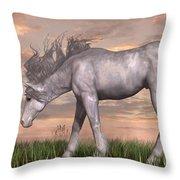 Unicorn And Chipmunk Throw Pillow