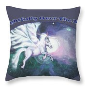 Unicorn And The Universe Throw Pillow