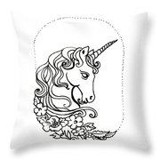 Unicorn Cameo Throw Pillow