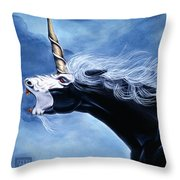 Unicorn Fury Throw Pillow