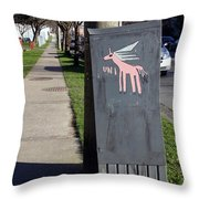 Unicorn Mail Delivery Throw Pillow