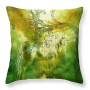 Unicorn Of The Forest  Throw Pillow