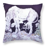 Unicorn Pauses Throw Pillow