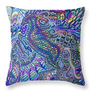 Unicorn Rainbow  Throw Pillow