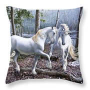 Unicorn Reunion Throw Pillow